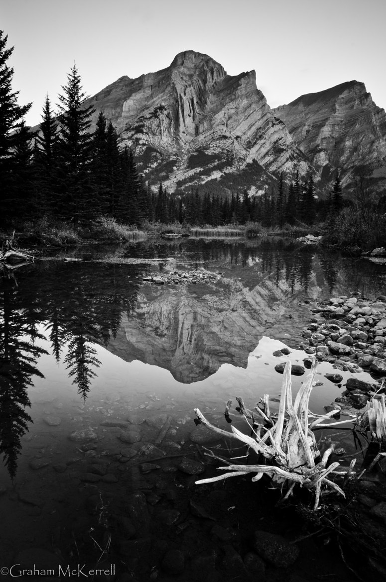 Photograph Mt. Kidd in B&W by Graham McKerrell on 500px