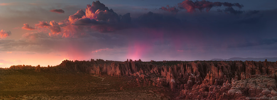 Storm clouds over the Fiery Furnace, Arches NP by Ben Coffman on 500px.com