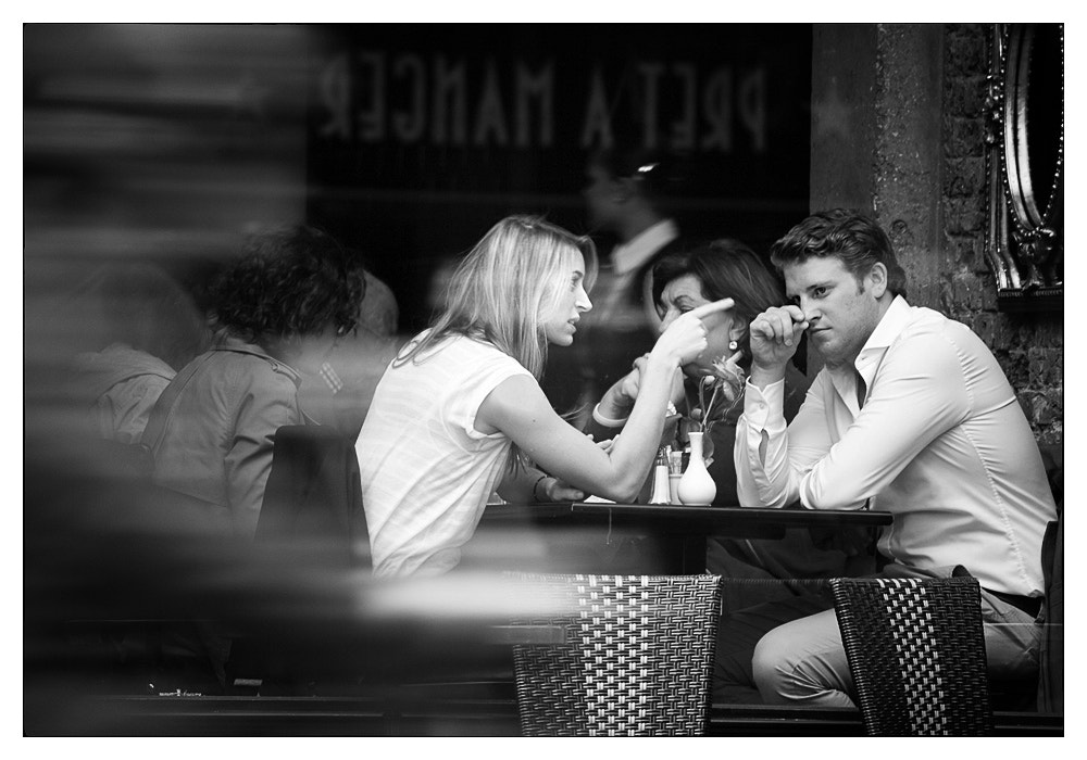 Photograph one-way conversation by Vilija White on 500px