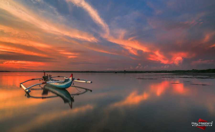 Morning Alone of My Blue Boat by Bertoni Siswanto on 500px.com