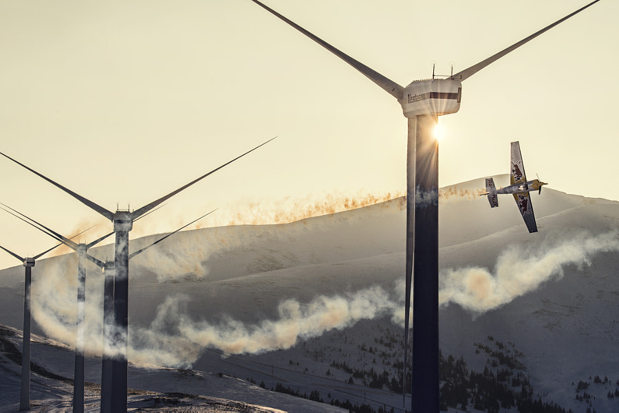 Hannes Arch flying through the Windpark by Red Bull Photography on 500px.com