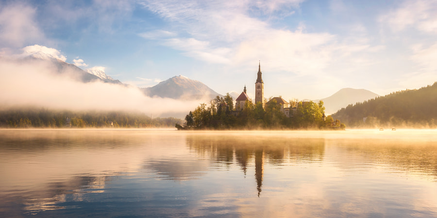 Golden Morning in Slovenia by Daniel on 500px.com