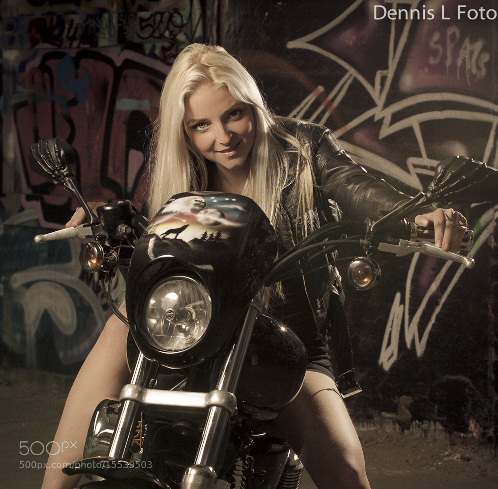 Photograph Girl on a big bike by Dennis Larsen on 500px