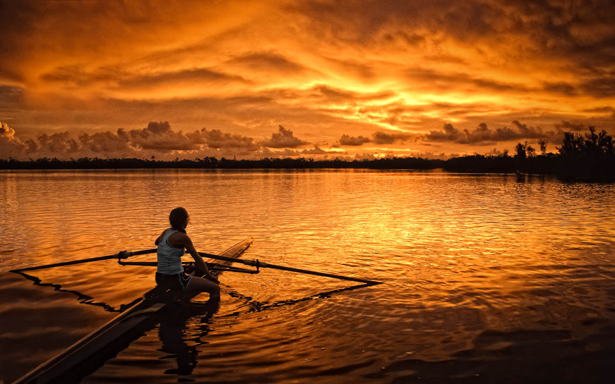 Photograph The Sunrise Sculler by Thomas Winter on 500px