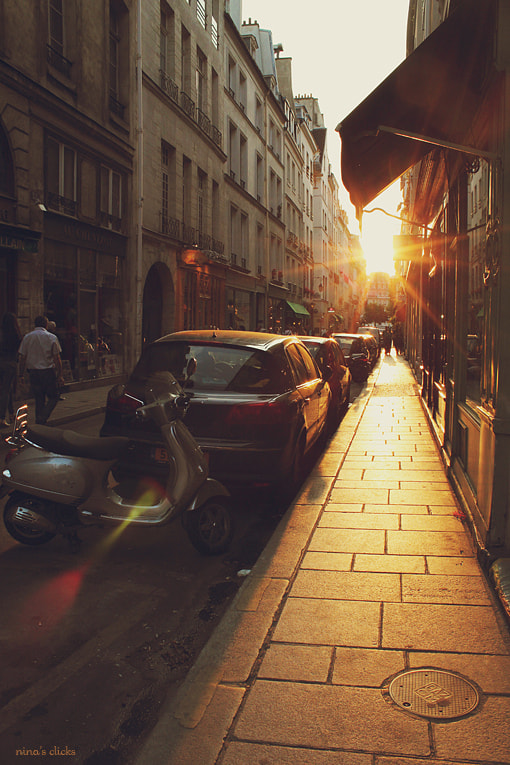 Photograph Paris street at sunset by Nina's clicks on 500px