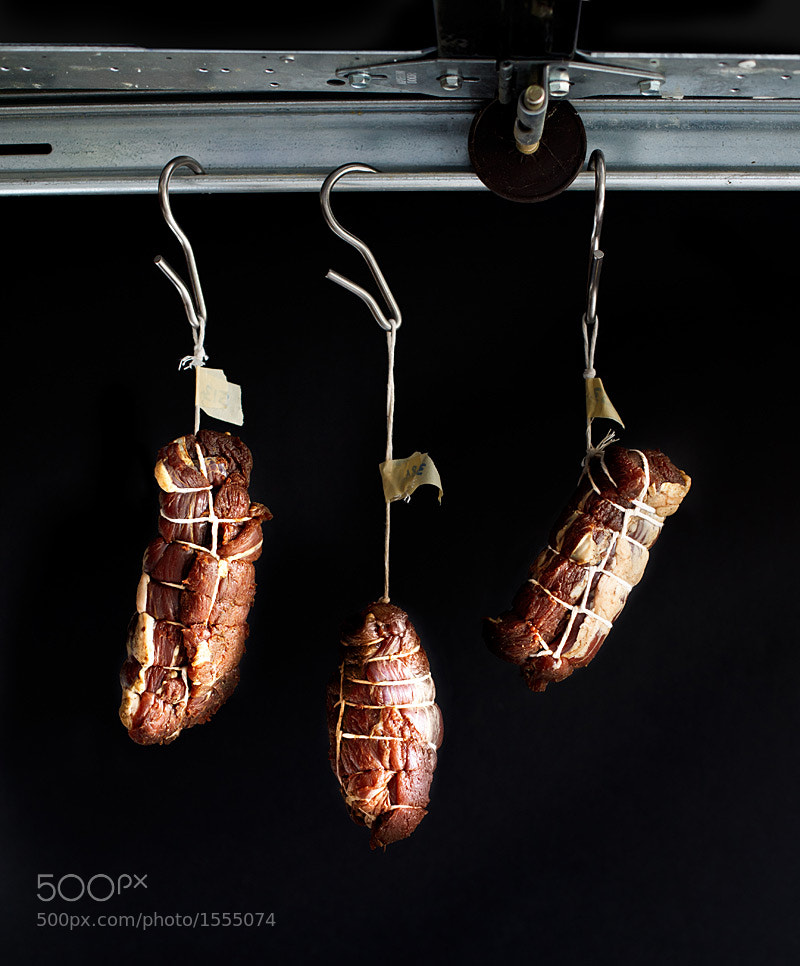 Photograph lamb bresaola hanging to air dry by matt wright on 500px