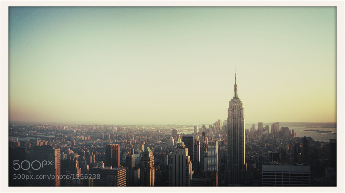 Photograph Empire State Building from Top of the Rock by Daniel New York on 500px