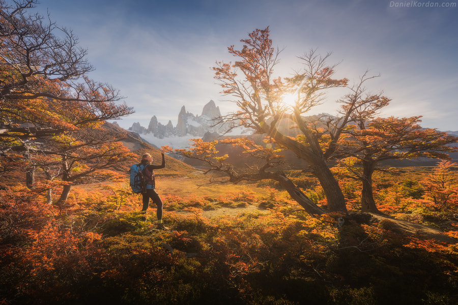 Autumn sun in Patagonia by Daniel Kordan on 500px.com