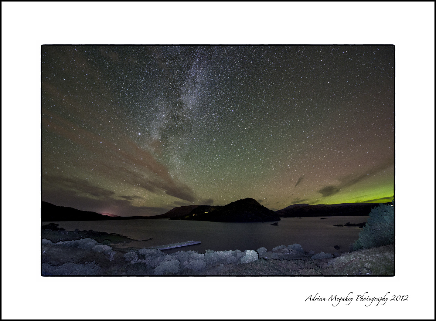 Photograph Aurora over Hill of Doon by adrian megahey on 500px