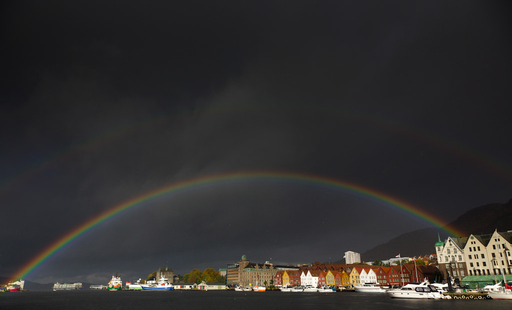Photograph Rainbow over Bryggen by audun nygaard on 500px