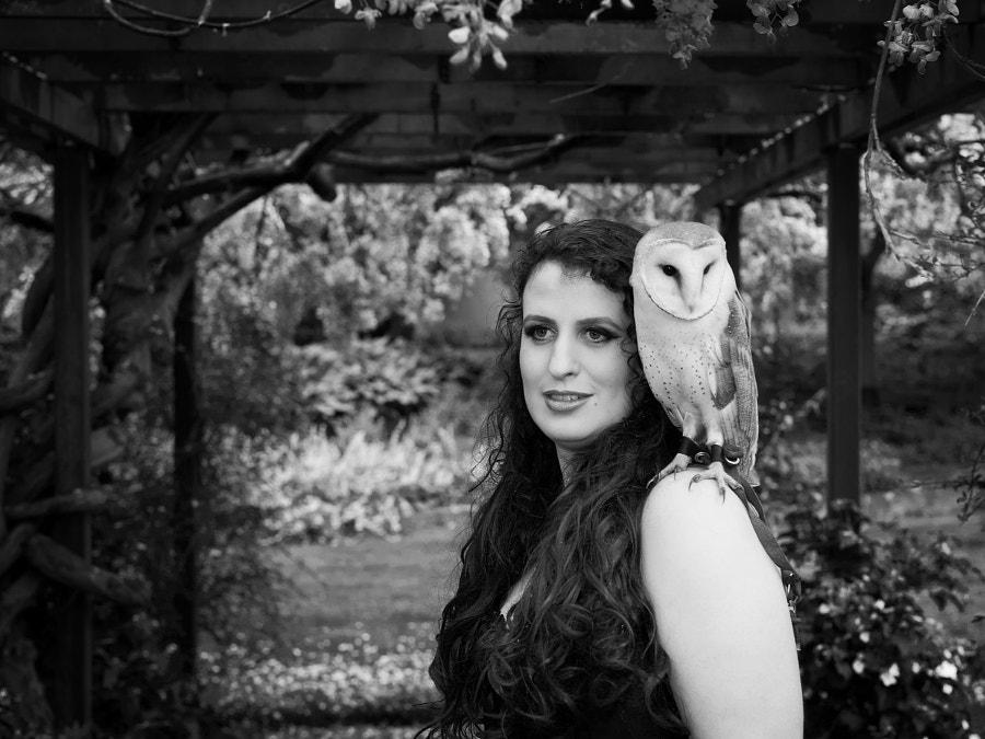 Lady Joyce with her Owl