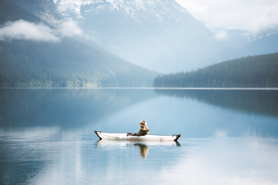 Morning Kayak at Bowman Lake by Forrest Mankins on 500px.com