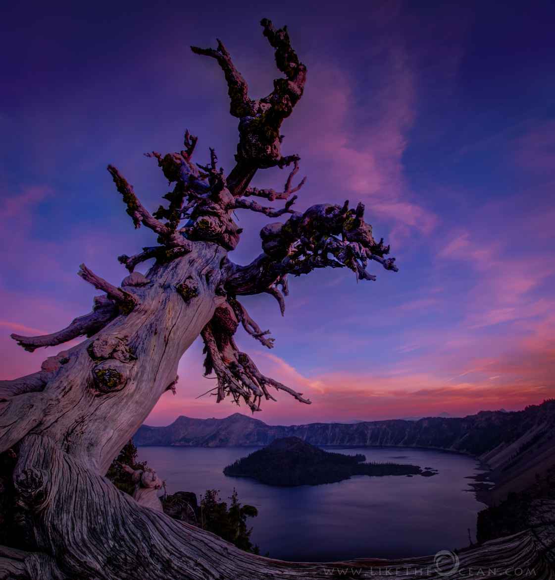 Photograph Twilight Colors at Crater Lake by Sathya R on 500px