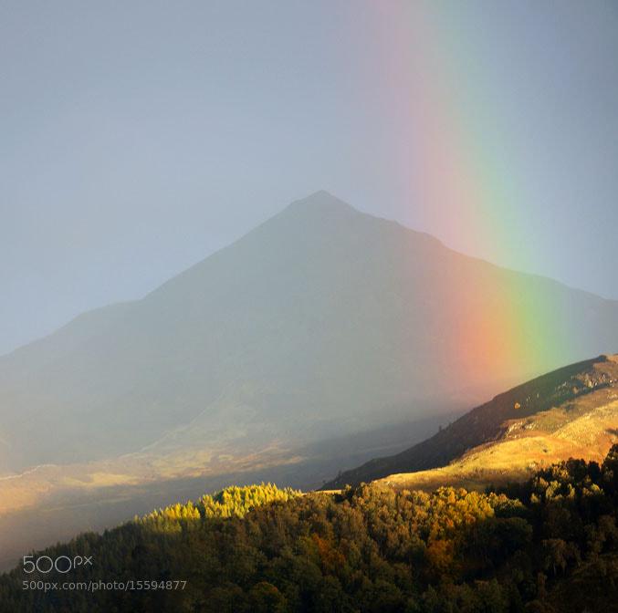 Photograph  Scheihallion Rainbow, Kinloch Rannoch, Scottish Highlands by Heather Leslie Ross on 500px