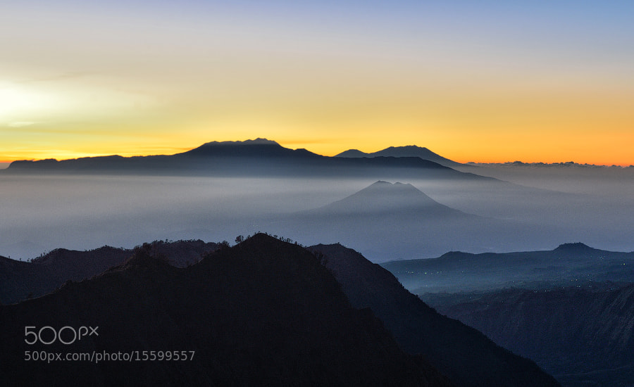 Photograph Sunrise behind Bromo-Tengger-Semeru Massiv, East Java by Vitaly Taysaev on 500px