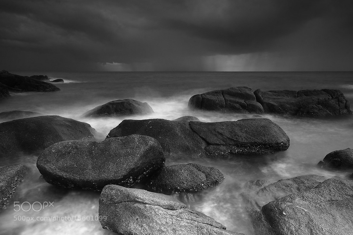 Photograph Sea Saw Scene in B&W by Khampee Galleries on 500px