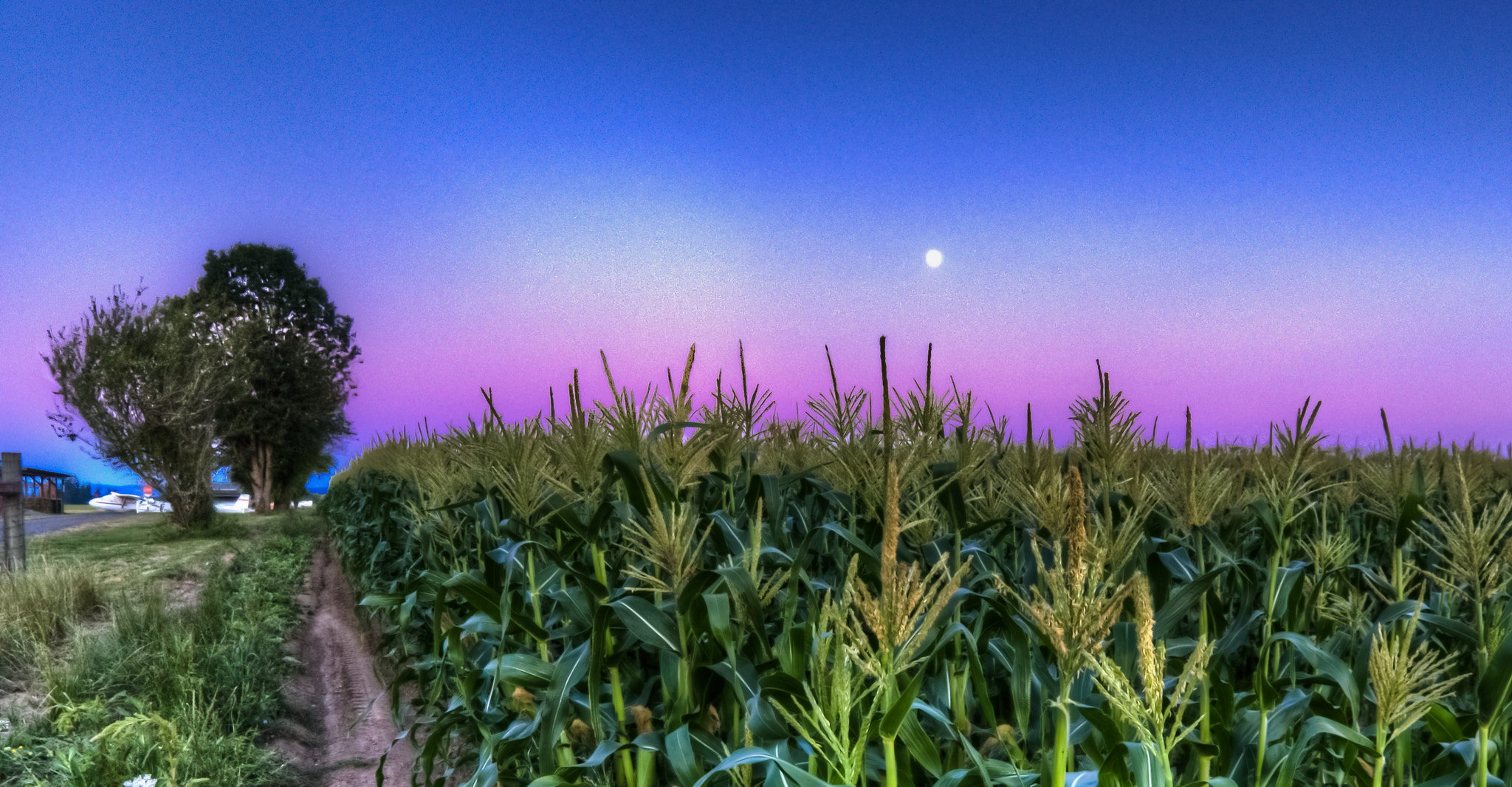 Photograph Moon during sunset by Zach Evers on 500px
