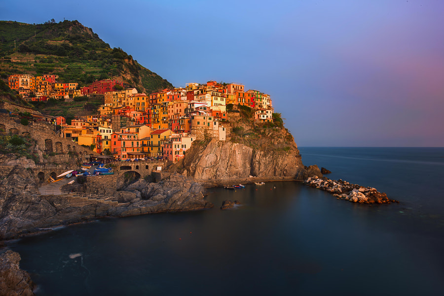 Manarola at Sunset by Joe Schmied on 500px.com