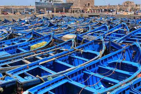 The blue boats of Essaouira by Alejandro Santiago on 500px