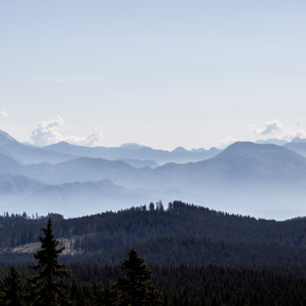 The mountains are beathing, Canon EOS REBEL SL1, Canon EF 80-200mm f/4.5-5.6 USM
