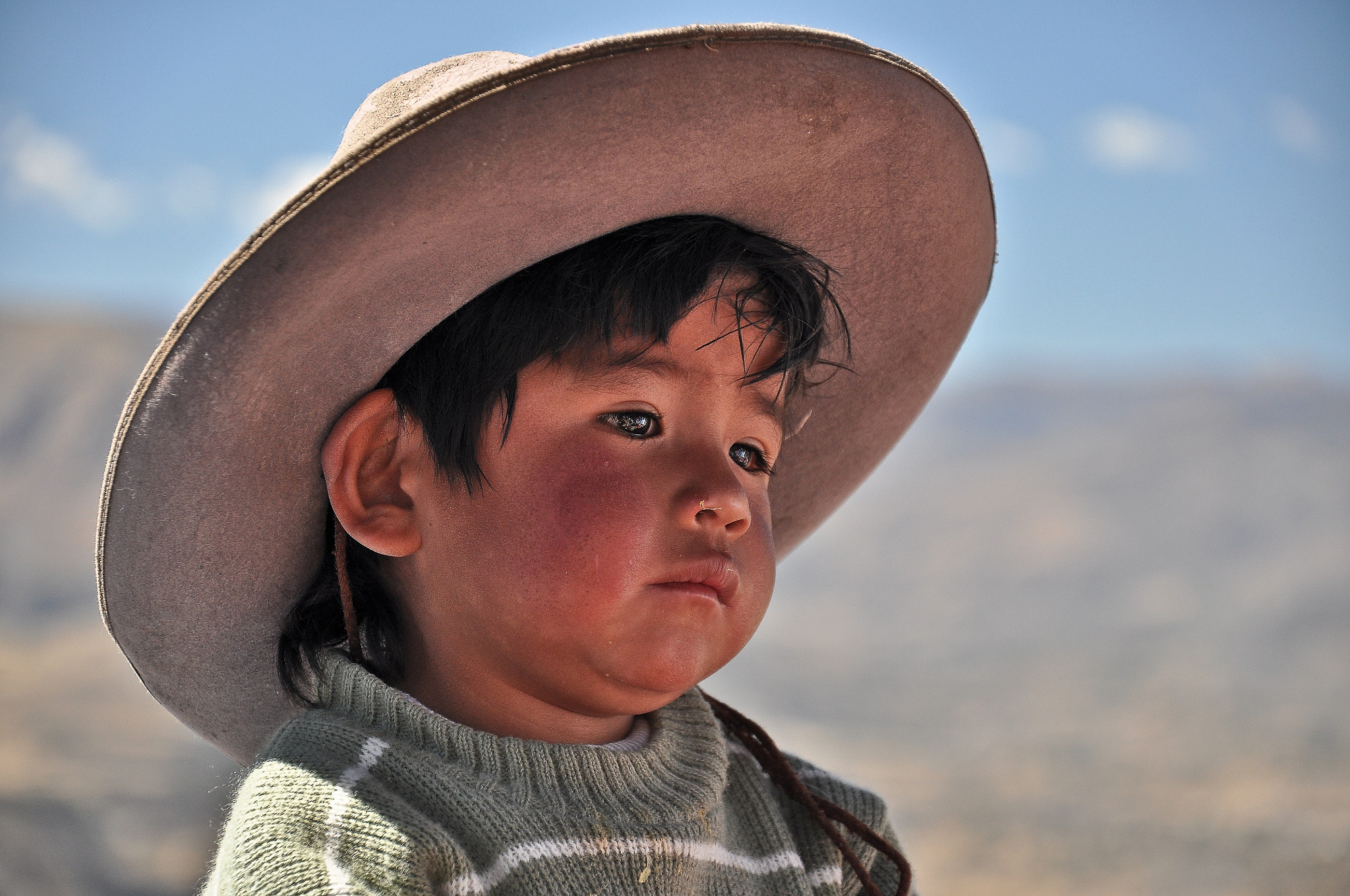 Photograph The sad look of the Colca boy by Rui Carvalho on 500px