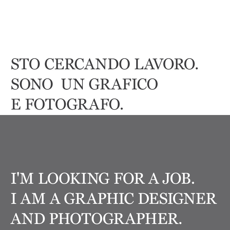 Photograph Looking for a job. by Daniele Melato on 500px
