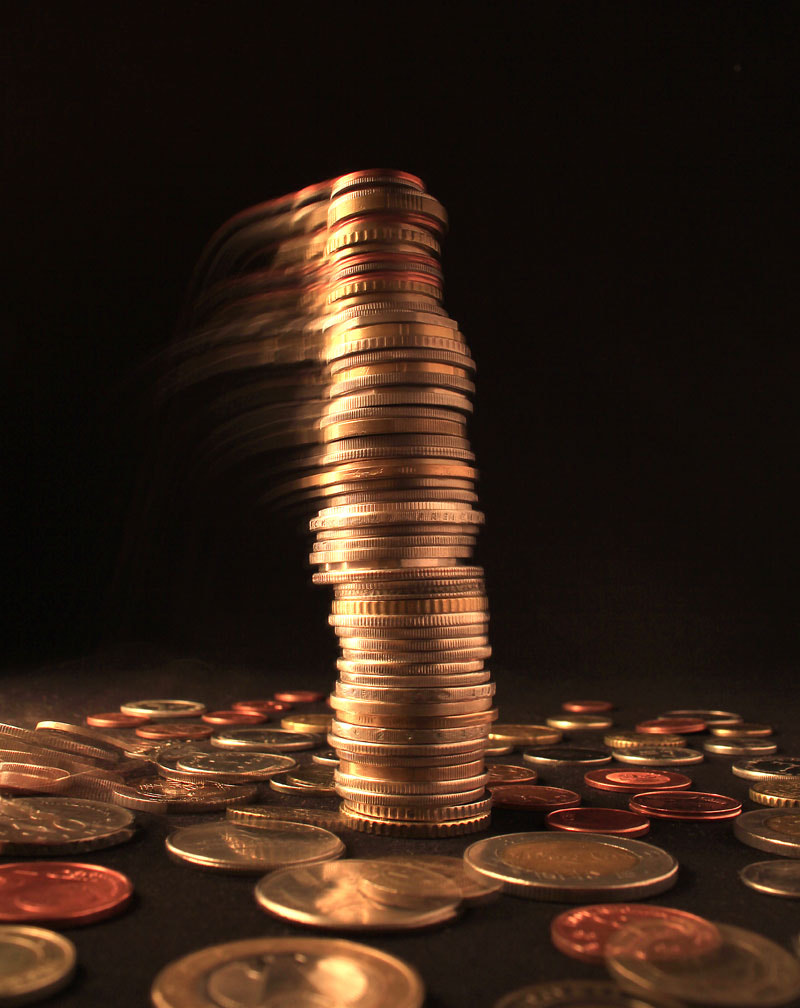 Photograph Falling column of different coins by Shahram  Mirkhani on 500px