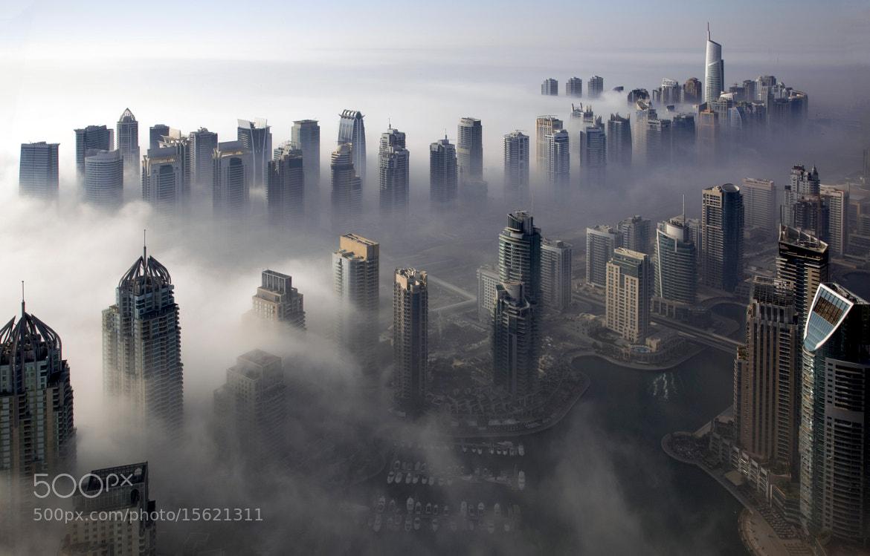Photograph Dubai Marina, fog break on the SHZ by Ian Powell on 500px