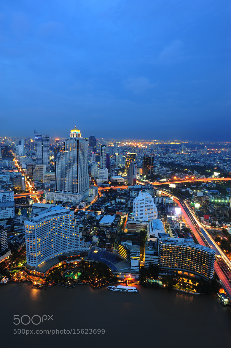 Photograph Scenery of Bangkok at twilight  by Jay Wootthisak on 500px