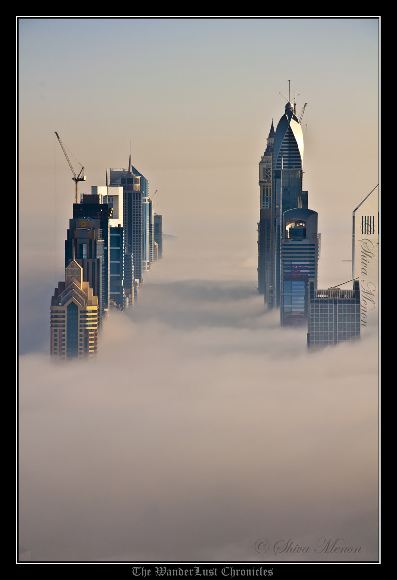 Photograph The Fog - Sheikh Zayed Road by Shiva Menon on 500px