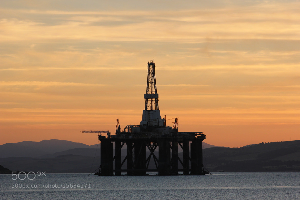 Photograph Sunset Oil Rig, Cromarty Firth by gormankinloch on 500px