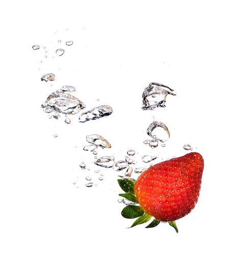 Photograph Strawberry Splash by Jeff Greene on 500px