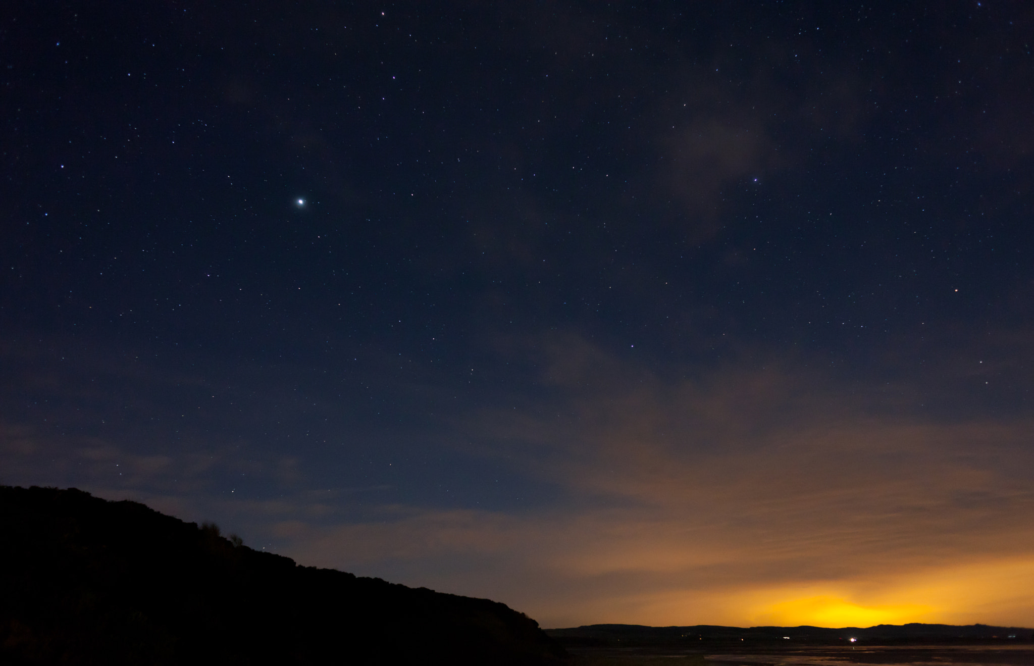 Photograph Budle Bay at Midnight by Dan Rubin on 500px