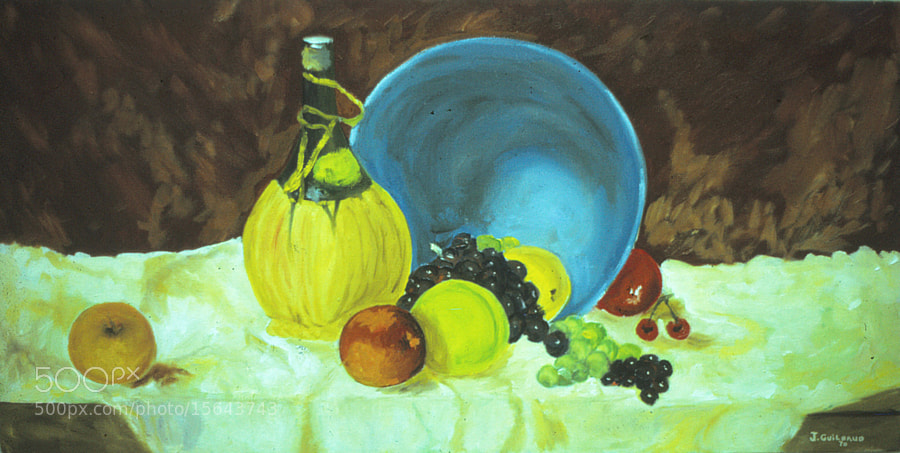 Photograph Still Life with wine - Oil on canvas by Jean-Claude Guilbaud on 500px