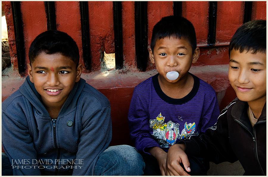 Faces of Nepal:   Bubblegum