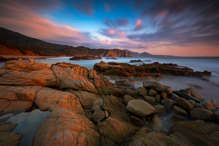 Sunset at Capo Pecora