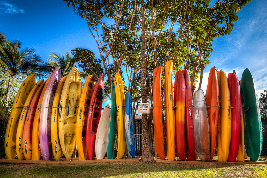 Photograph Ocean Kayaks in Maui by  W Brian Duncan on 500px
