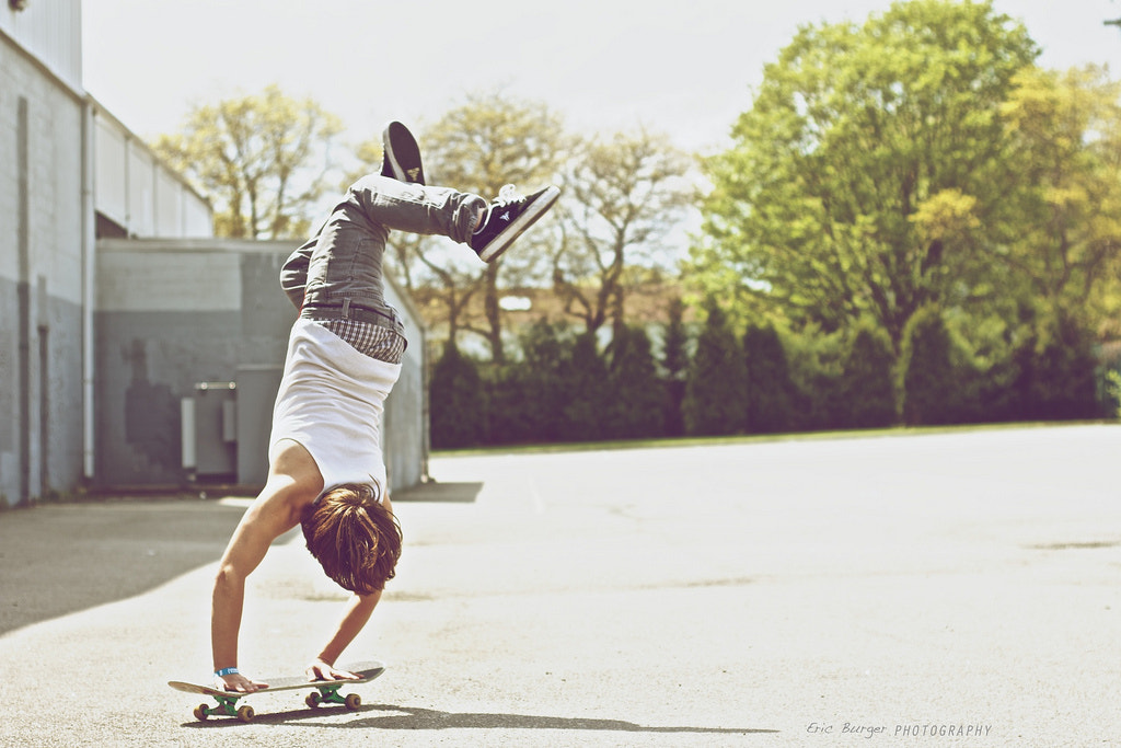 Photograph Handstand Skateboarder  by Eric Burger on 500px