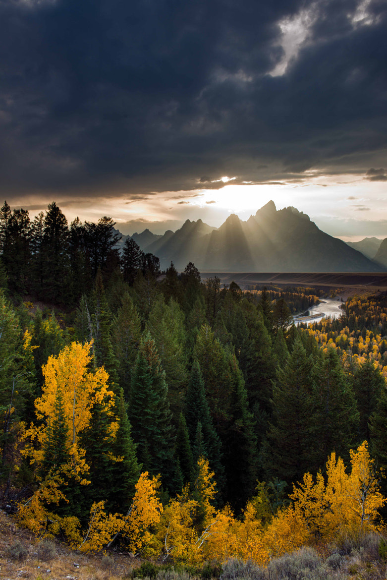 Photograph Grand Teton Sun Rays 1 by Oscar Jimenez on 500px