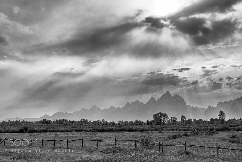 Photograph Grand Teton Sun Rays 2 by Oscar Jimenez on 500px