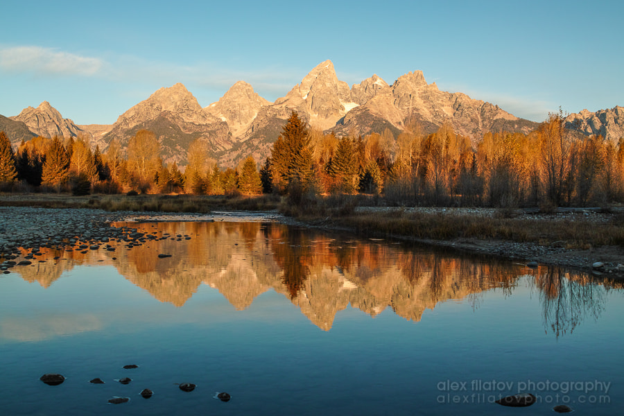 Photograph Golden Teton Sunrise by Alex Filatov | alexfilatovphoto.com on 500px