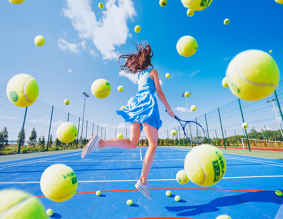 Tennis girl by Kristina Makeeva on 500px.com
