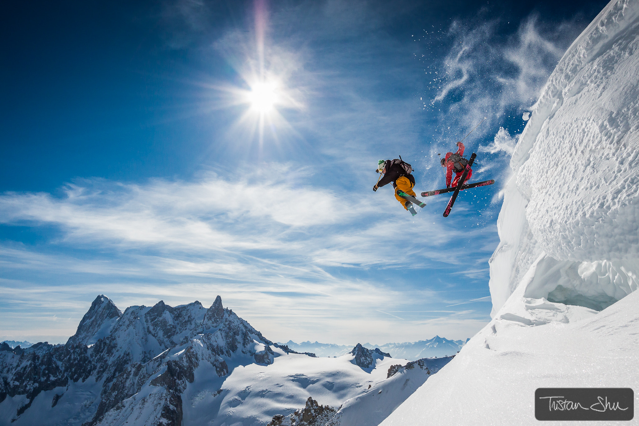Photograph Jumping Legends with Candide Thovex & Guerlain Chicherit by Tristan Shu on 500px