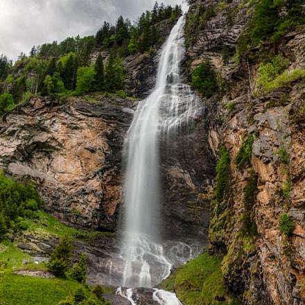 Huge Alpine waterfall