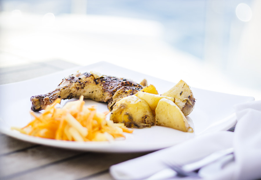 Grilled Chicken, Baked Potatoes, and Salad by Son of the Morning Light on 500px.com