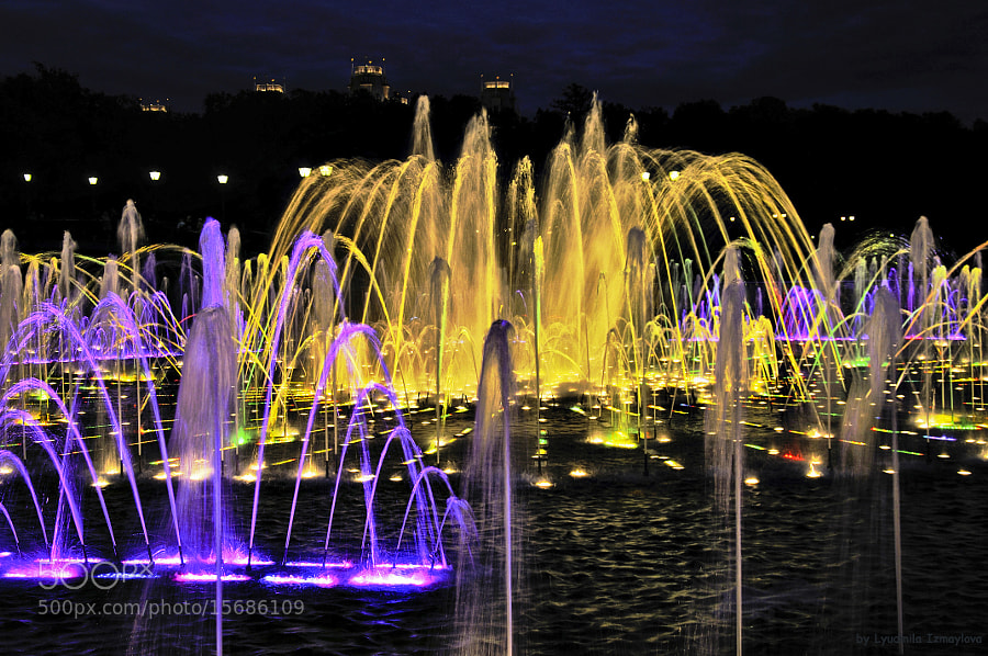 Photograph night fountain by Lyudmila Izmaylova on 500px
