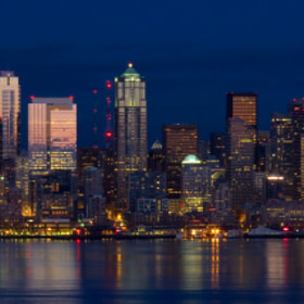 Seattle Skyline at Dusk by Jeff Carlson (jeffcarlson)) on 500px.com
