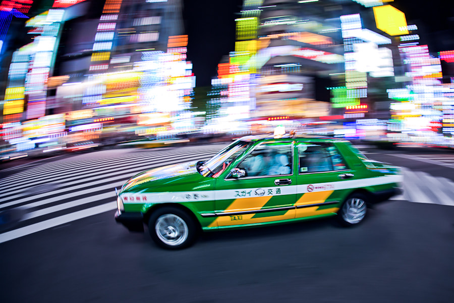 Photograph Shinjuku Taxi by Loic Labranche on 500px