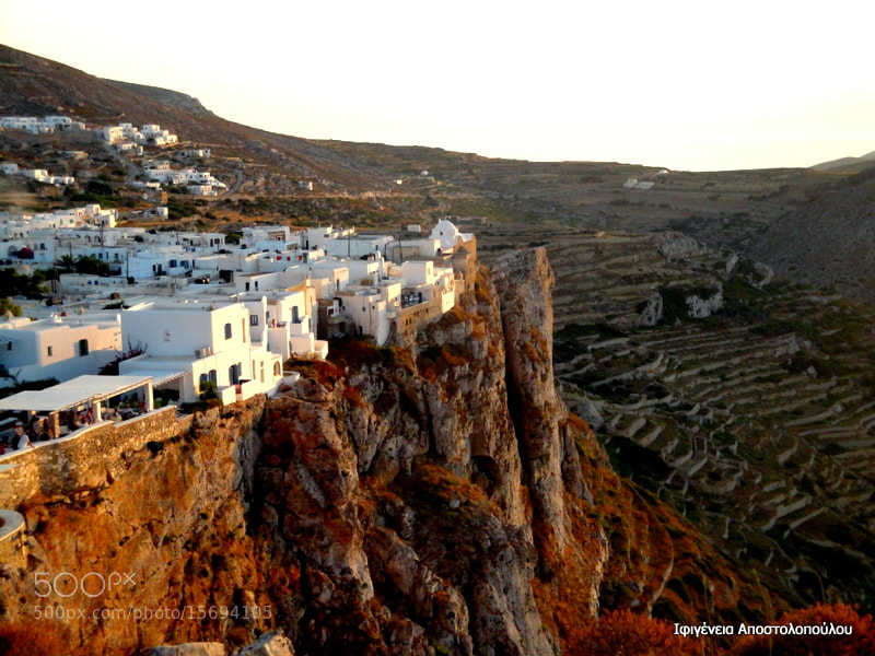 Photograph Chora,Folegandros Island II by Ifigeneia  Apostolopoulou on 500px