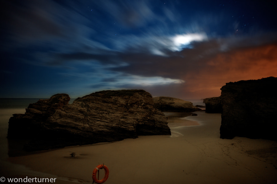 Photograph Moon behind clouds by Wonder Turner on 500px